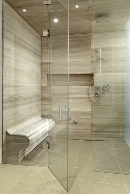 Shower Stall Kits Bathroom Contemporary with Beige Tile Shower Beige
