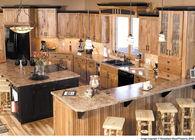 Showplace Cabinets Kitchen Traditional with Amber Cabinet Charcoal Cabinets