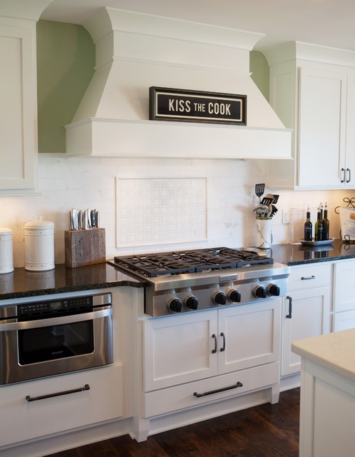 Showplace Cabinets Kitchen Traditional with Black and White Built In