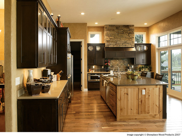 showplace cabinets Kitchen Traditional with cabinet coffee coffee finish