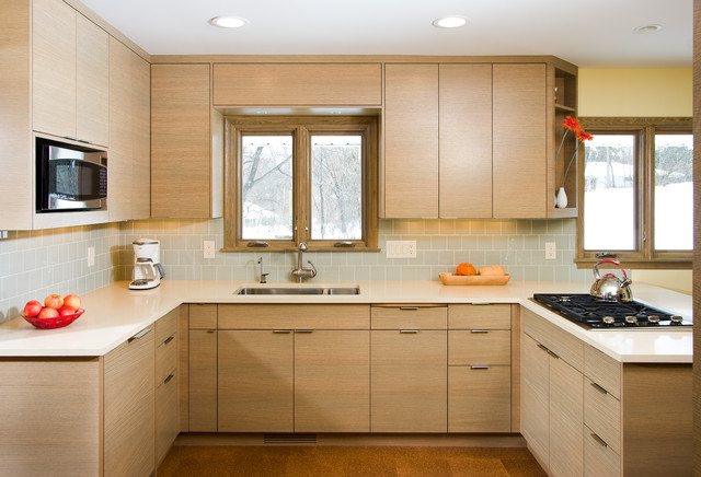 Silestone Countertops Kitchen Modern with Cork Floor Modern Oak