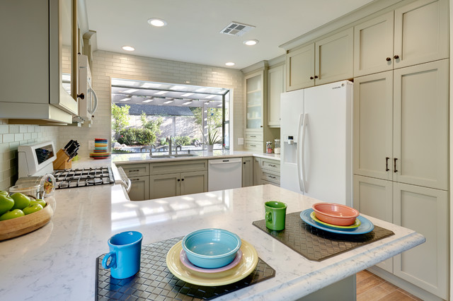 Silestone Countertops Kitchen Traditional with Baking Station Black Hardware1