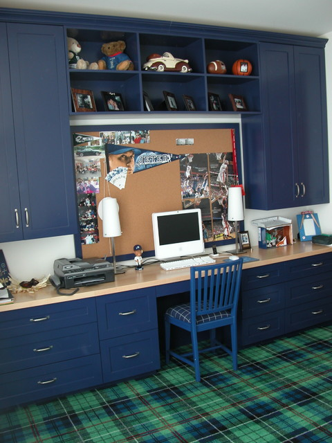 Simons Hardware Kids Traditional with Blue Built in Desk