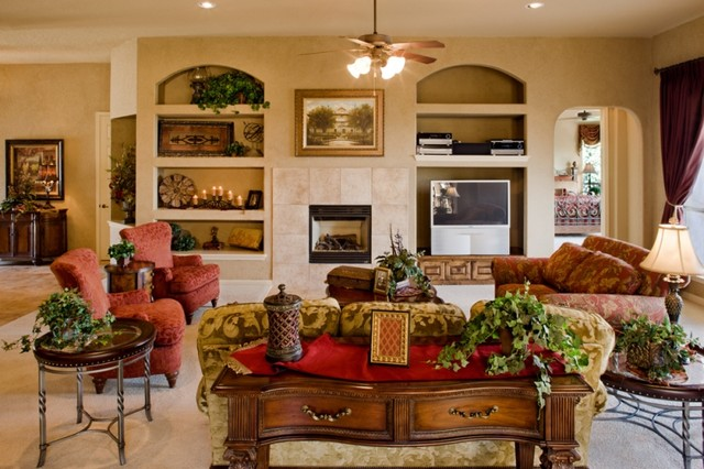 Sitterle Homes Family Room Mediterranean with Categoryfamily Roomstylemediterraneanlocationother Metro