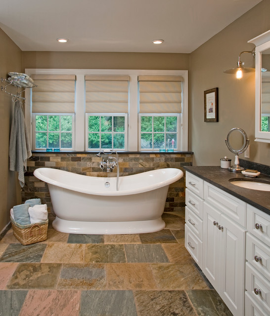 Slate Countertops Bathroom Traditional with Bathroom Bathroom Cabinets Beige