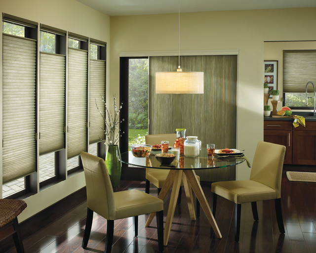 Sliding Glass Door Blinds Dining Room Modern with Blinds Ceiling Light Chair