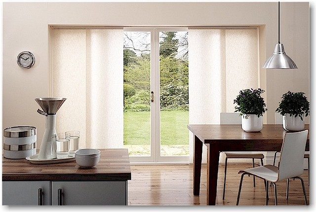 sliding panel blinds Kitchen Modern with blinds blinds for patio