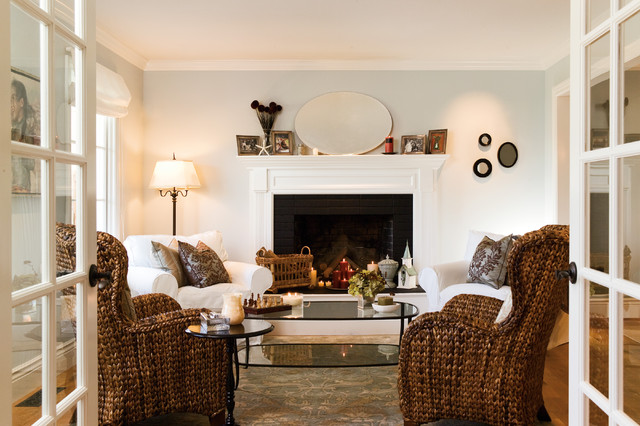 Slipcovered Sofas Living Room Beach with Area Rug Arm Chairs