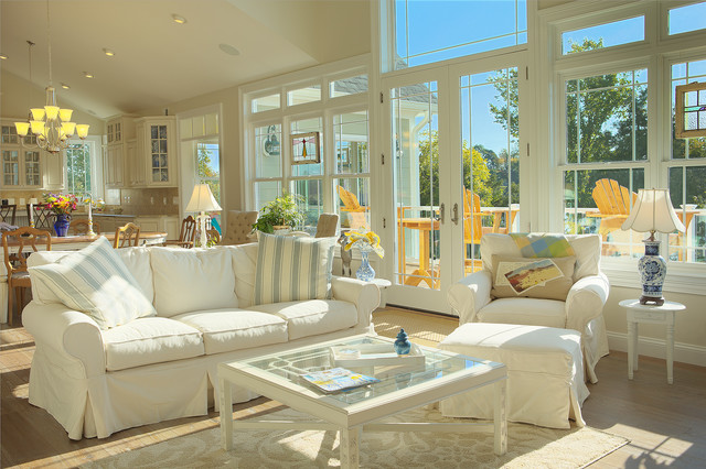 Slipcovers for Couch Living Room Traditional with Airy Ceiling Lighting Cottage