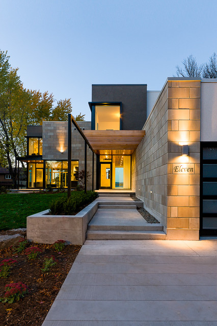Slv Lighting Exterior Contemporary with Concrete Planter Driveway Entry