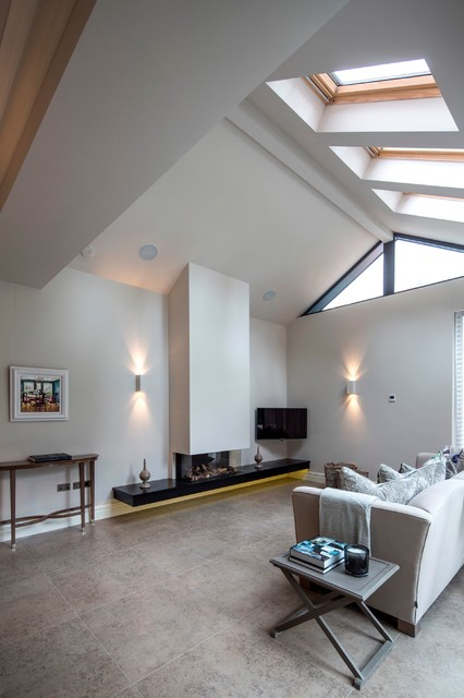 Slv Lighting Living Room Contemporary with Brige Sofa Chimney Breast