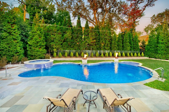 Small Inground Pools Pool Traditional with Aquascape Chicago Pool Construction