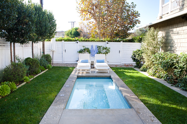 Small Inground Pools Pool Traditional with Fence Gates Landscaping Lawn