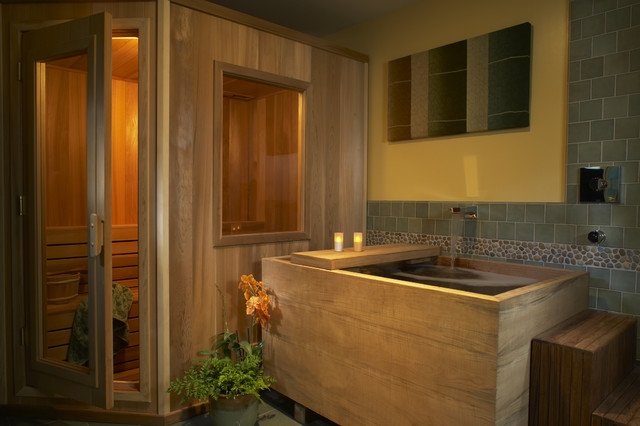 Soaking Tubs Bathroom Asian with Accent Tile Bathroom Bathtub