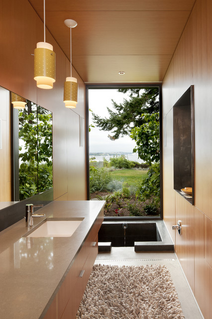 Soaking Tubs Bathroom Contemporary with Asian Bath Mat Bathroom