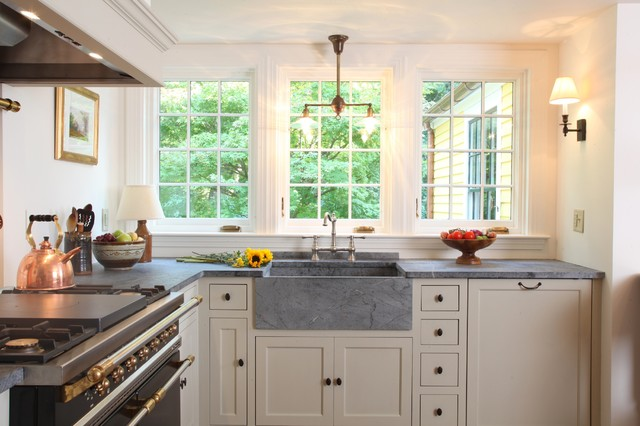 Soapstone Sink Kitchen Traditional with Apron Sink Farm Sink