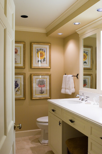 Soffit Lighting Bathroom Traditional with Bathroom Hardware Botanical Prints