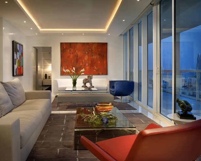 Soffit Lighting Living Room Contemporary with Aventura Beige Bench Beige