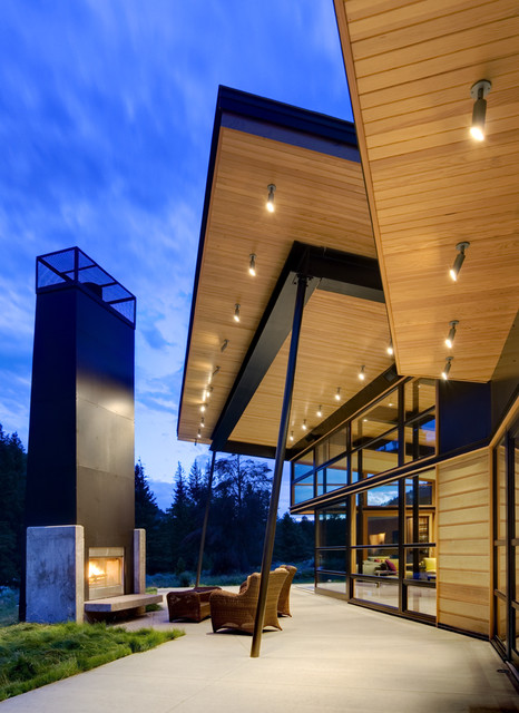 Soffit Lighting Patio Contemporary with Big Sky Black Black