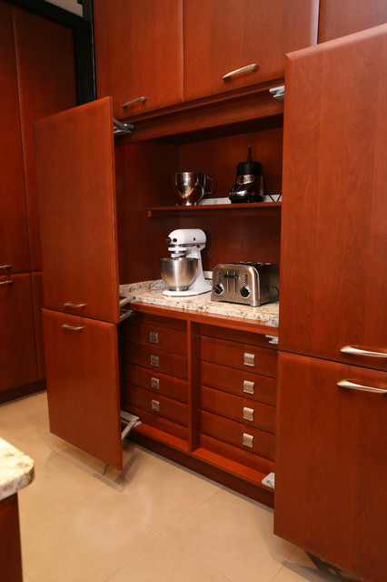Soft Close Cabinet Hinges Kitchen Contemporary with Ceiling Lighting Cherry Wood