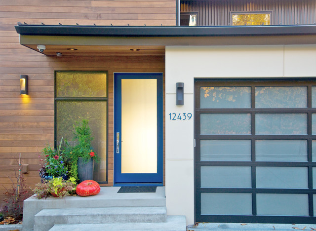 Solid Core Interior Doors Entry Contemporary with Beige Exterior Beige Siding
