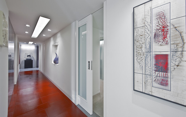 Solid Core Interior Doors Hall Contemporary with Art Frosted Glass Glass