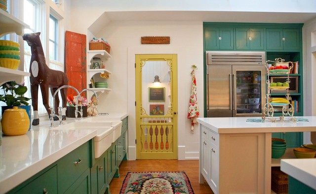 Solid Core Interior Doors Kitchen Farmhouse with Apron Built in Desk