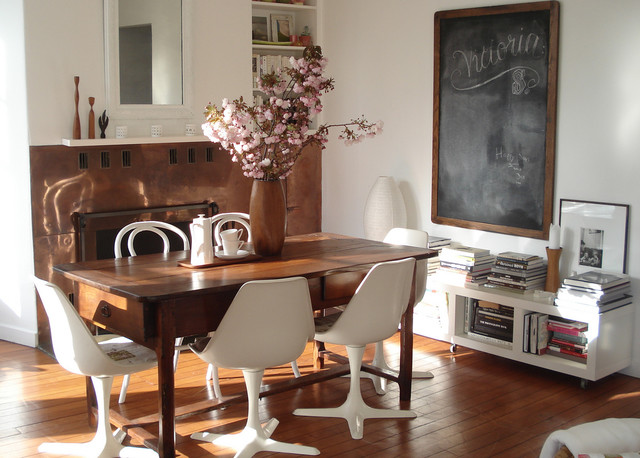 Solid Wood Bookcase Dining Room Shabby Chic with Bookcase Bookshelves Chalkboard Copper