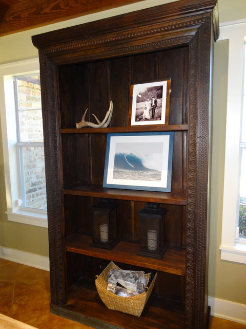 Solid Wood Bookcase Family Room with Bookcase Cabinet Carved Wood