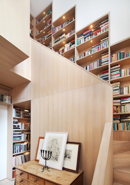 Solid Wood Bookcase Staircase Contemporary with Contemporary Design Decorative Fresh