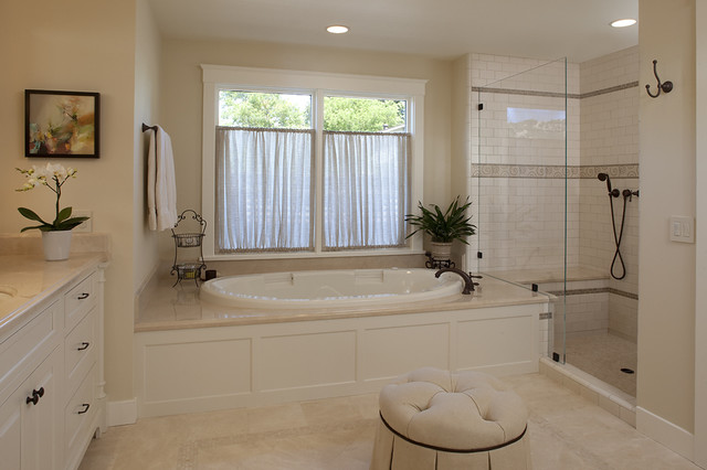 Sonoma Tile Bathroom Traditional with Accent Tile Deck Mounted