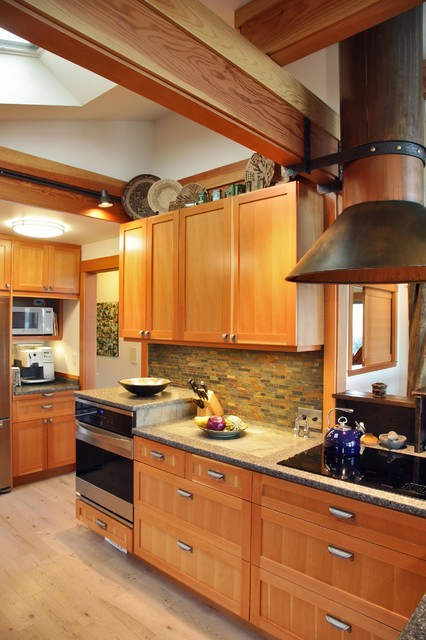 Spice Tins Kitchen Eclectic with 1980s Beach House Remodel