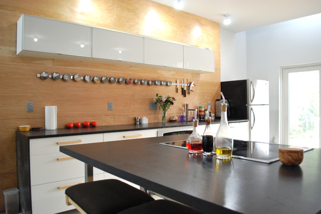 Spice Tins Kitchen Industrial with Black Countertops Breakfast Bar