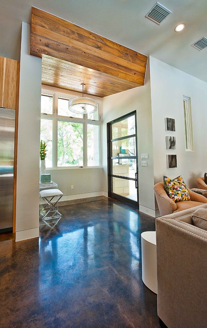 Staining Concrete Floors Entry Contemporary with Acid Wash Baseboards Concrete