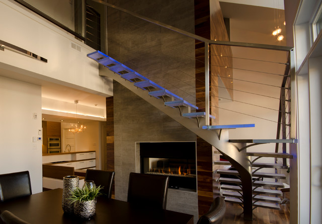 Stair Balusters Staircase Contemporary with Glass Stairs Glass Steps