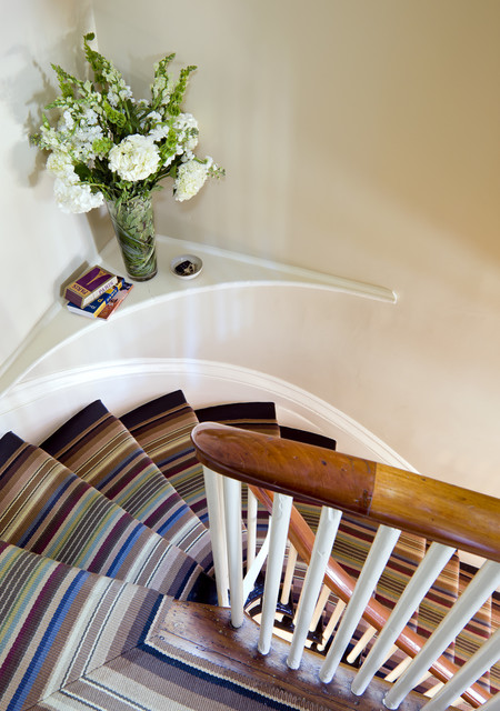 Stair Runner Staircase Eclectic with Banister Curved Stair Custom1