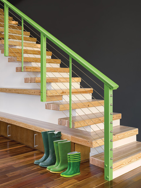 Stair Runners Staircase Modern with Bold New Colors Designrail