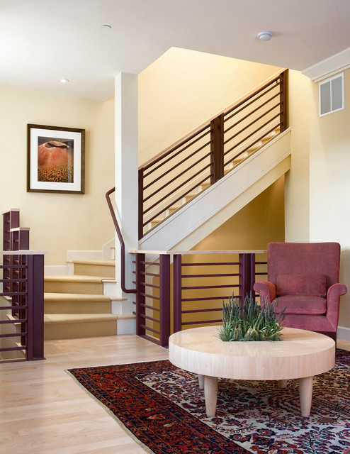 stair treads carpet Staircase Transitional with beige wall carpet stairs
