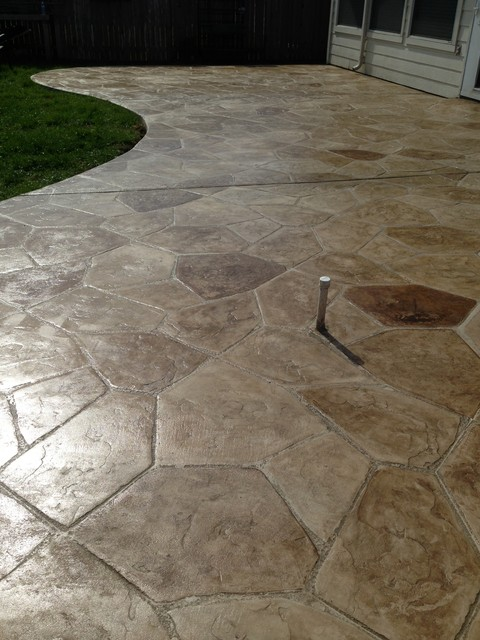 Stamped Concrete Patterns Spaces with Concrete Hand Stained Concrete