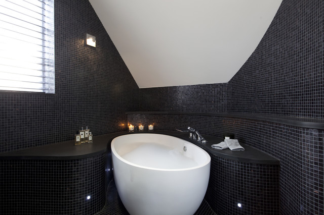 Stand Alone Tubs Bathroom Contemporary with Automatic Sensor Lighting Bespoke