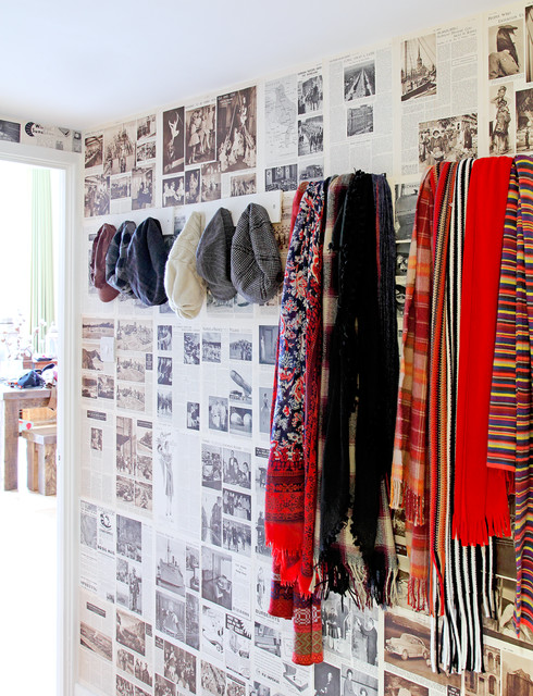 Standing Coat Rack Entry Eclectic with Book Wallpaper Coat Hook