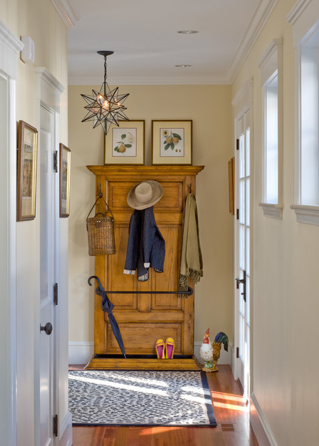 Standing Coat Rack Entry Traditional with Area Rug Blue Rug