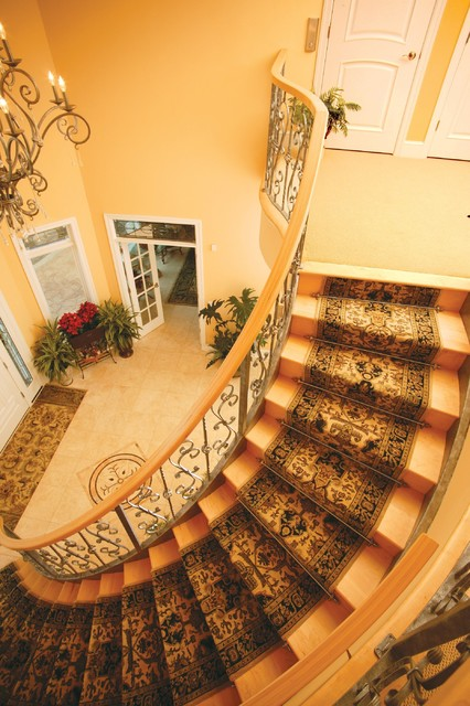 Stanton Carpet Staircase Traditional with Carpet Runner Entrance Entry