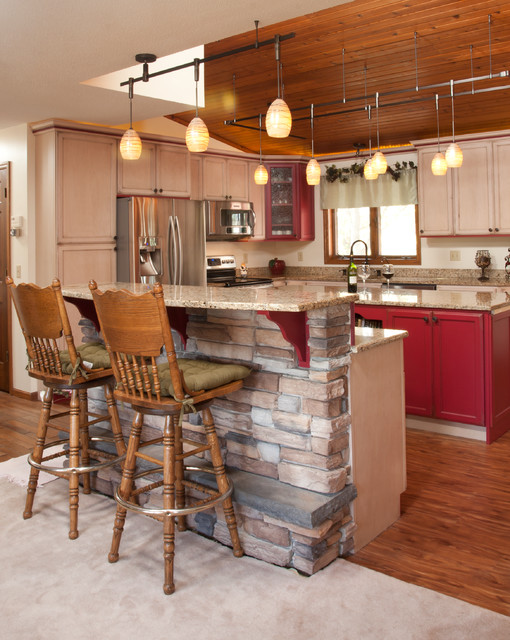 Starmark Cabinets Kitchen Rustic with Bar Stool Counter Stool
