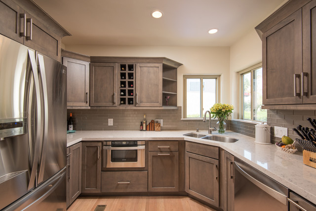 Starmark Cabinets Kitchen Transitional with Recessed Lighting San Diego