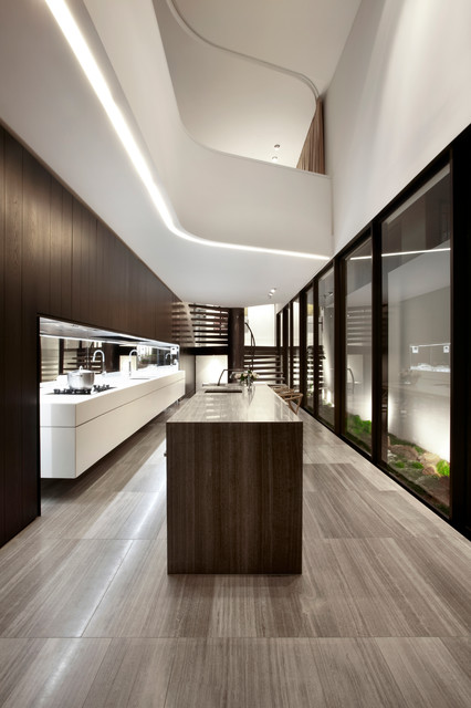 starphire glass Kitchen Contemporary with ash black curve elegant