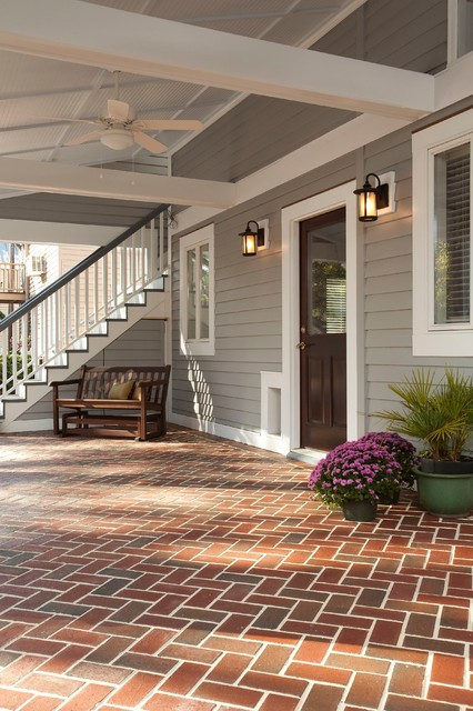 Statewide Remodeling Porch Traditional with Brick Paving Ceiling Fan