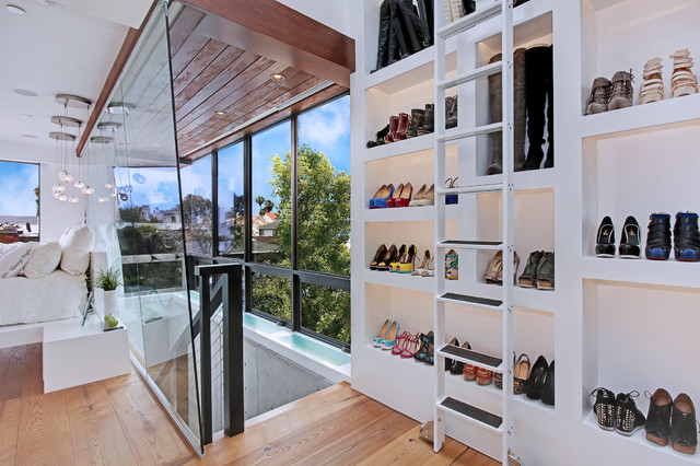 Stepladder Closet Contemporary with Bedroom Bubble Pendant Lights