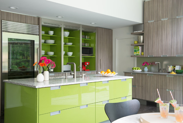 Stepladder Kitchen Contemporary with Eat in Kitchen Glass Front
