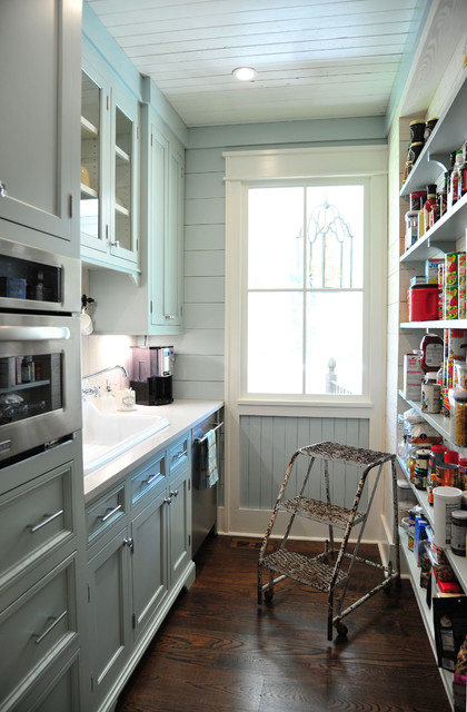 Stepladder Kitchen Farmhouse with Beadboard Ceiling Carpenter Gothic